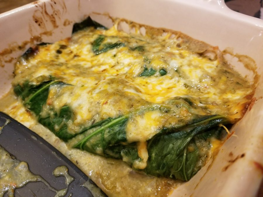 chicken green chile enchiladas