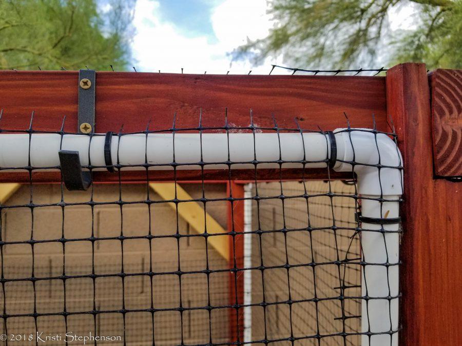 garden enclosure - wall closeup