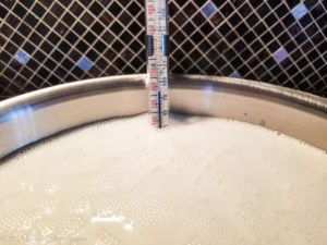 milk holding at 180F for yogurt