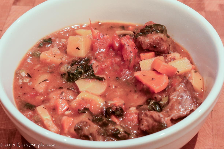 beef stew served