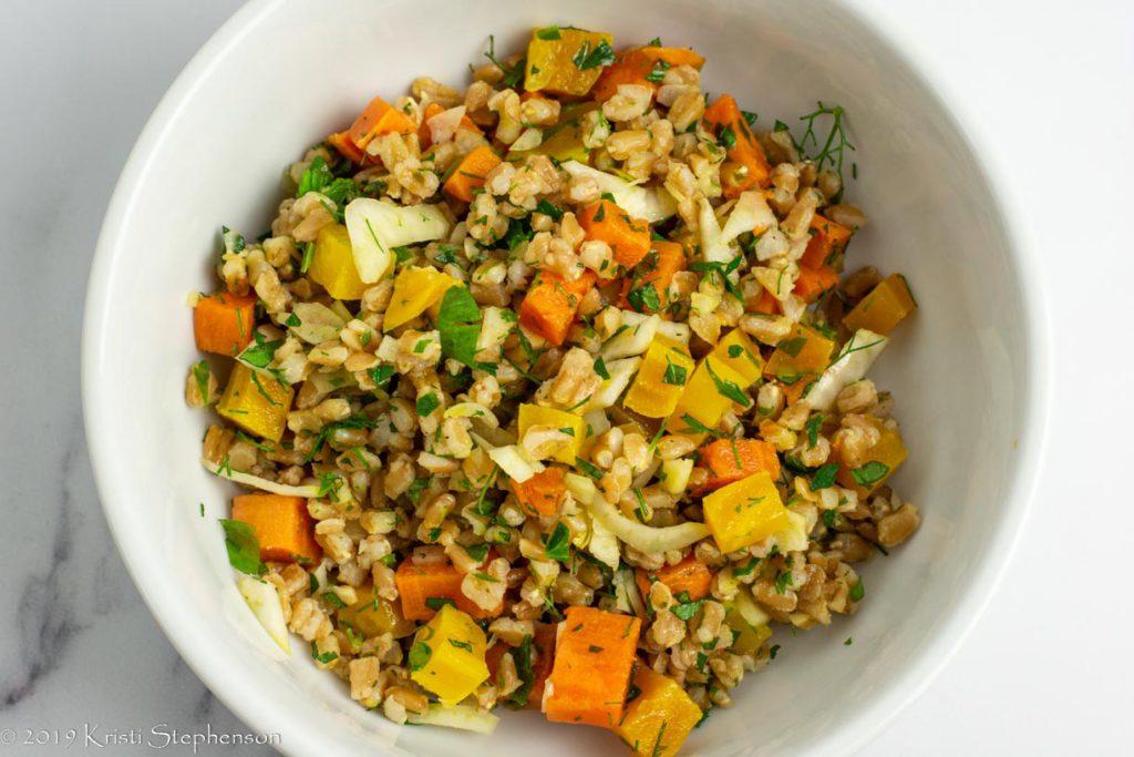 farro salad base