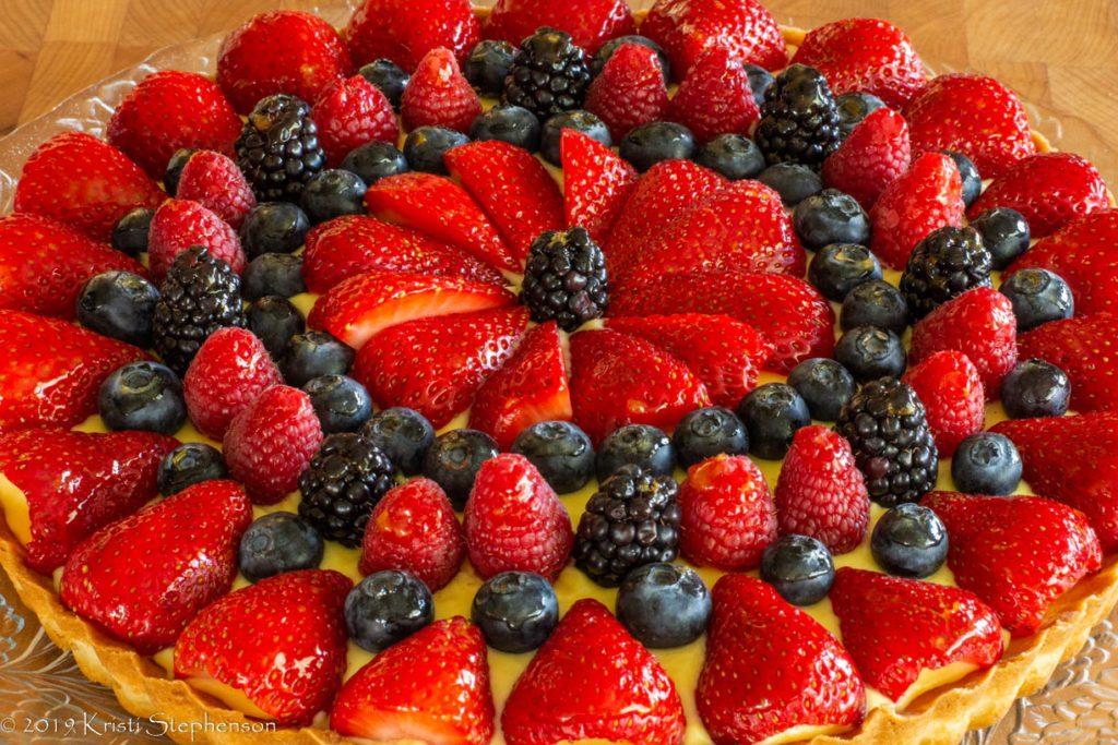 fruit tart complete
