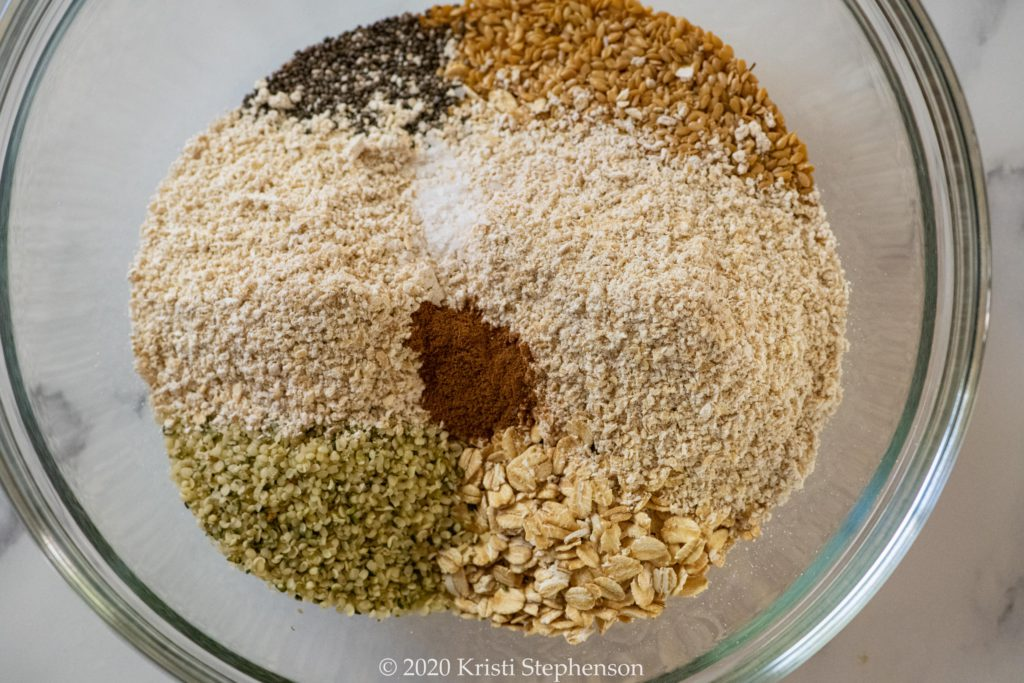 dry ingredients for bars