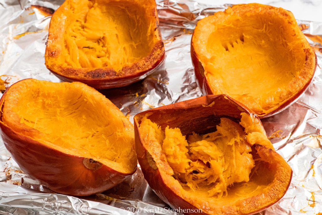 Roasted pie pumpkins