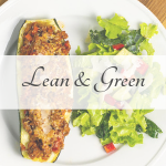 Picture of plate of food representing the lean and green recipes category