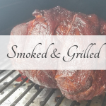 Picture of a smoked pork shoulder representing the smoked and grilled recipe category
