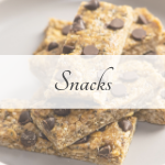 Picture of homemade energy bars representing the snacks category
