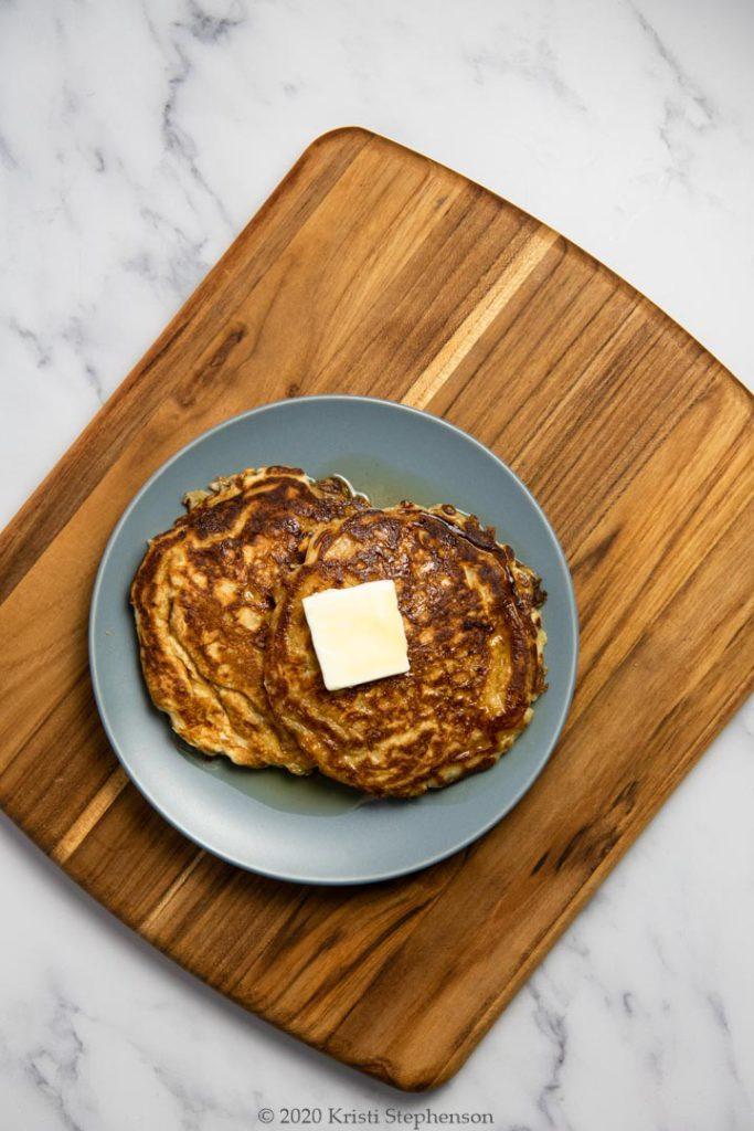 sourdough pancakes ready to enjoy