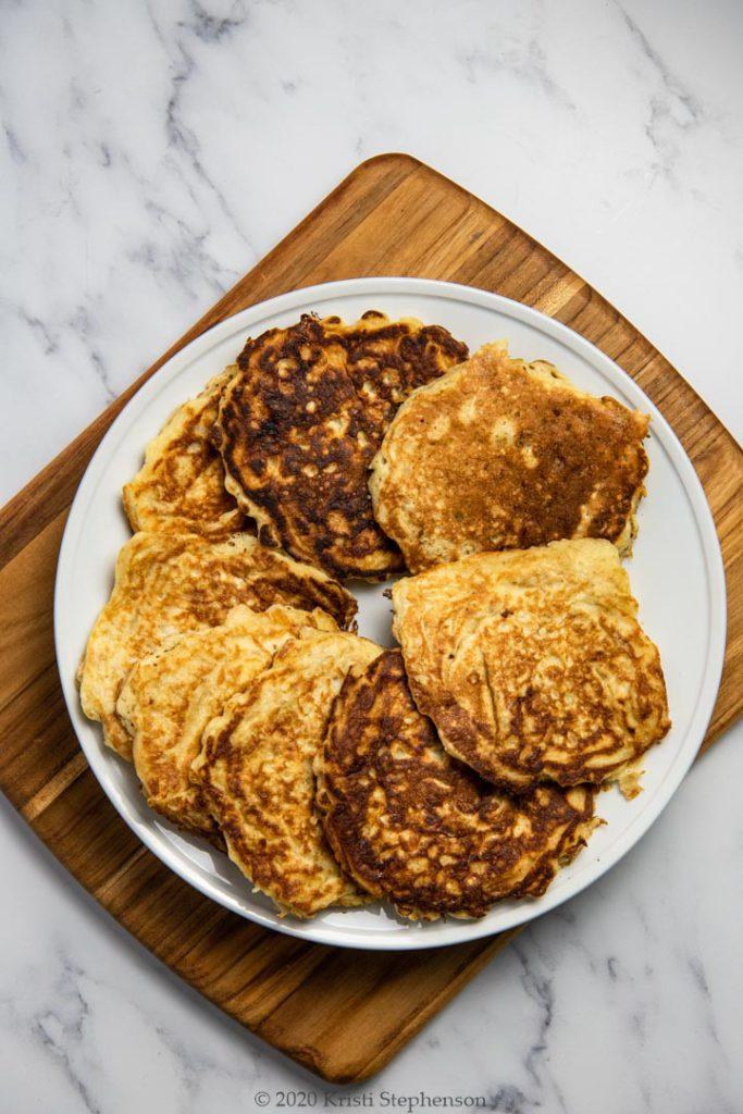 plate full of pancakes