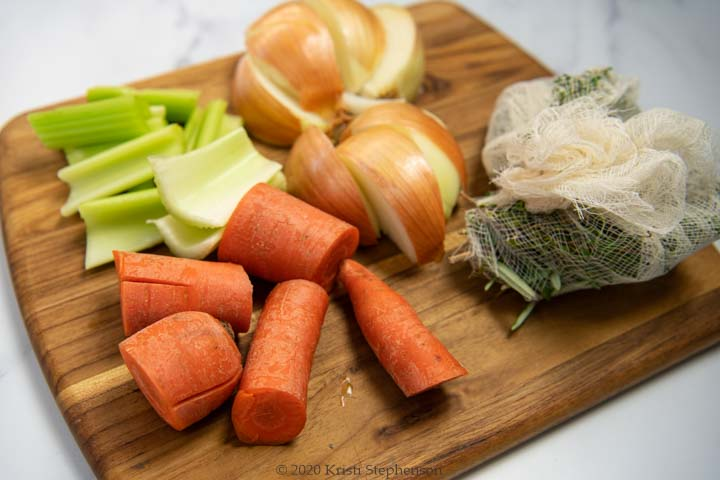 veggies ready for stock