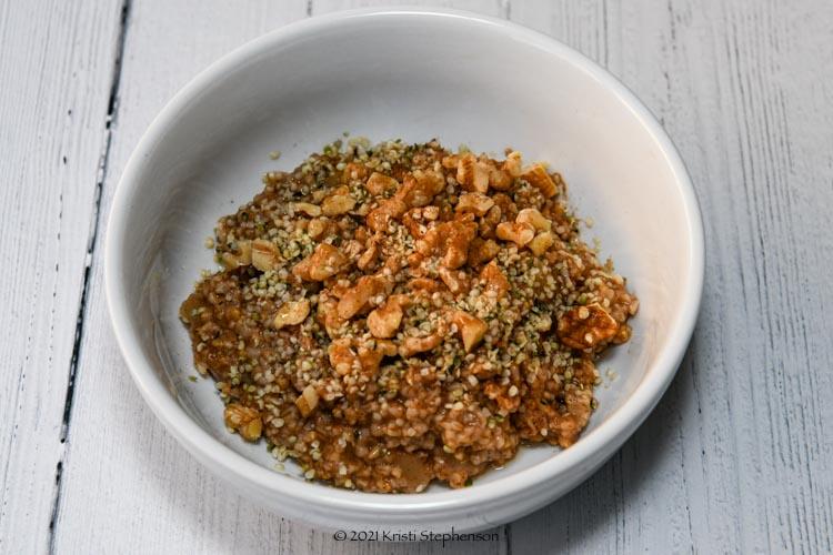 bowl of steel cut oats