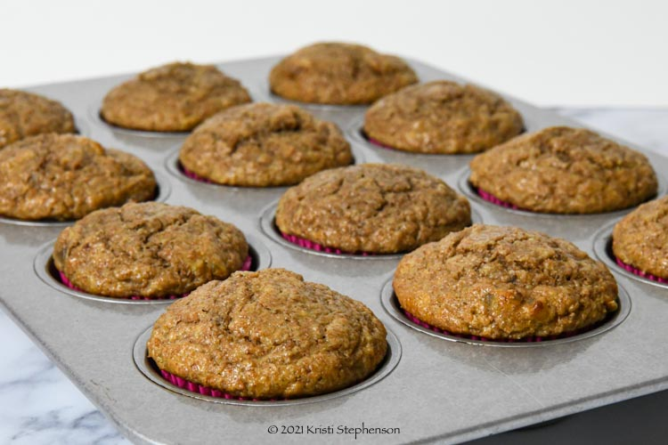 muffins in the muffin tin