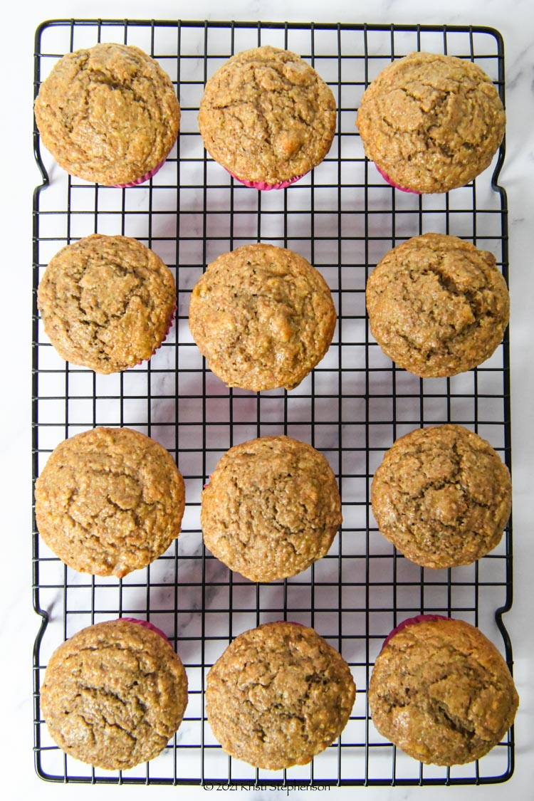 muffins on cooling rack